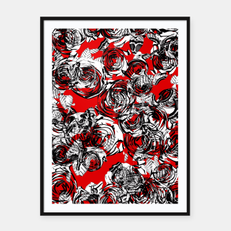 Miniatur Roses Wild RED Framed poster, Live Heroes