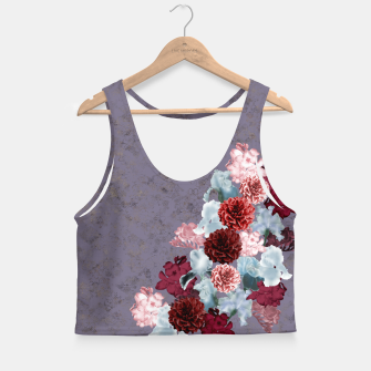 Miniatur elegant flower gradation with Japanese Kamon decoration Crop Top, Live Heroes