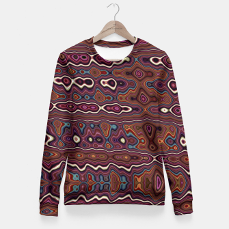 Imagen en miniatura de Hippy Boho Chestnut Warped Pattern Fitted Waist Sweater, Live Heroes