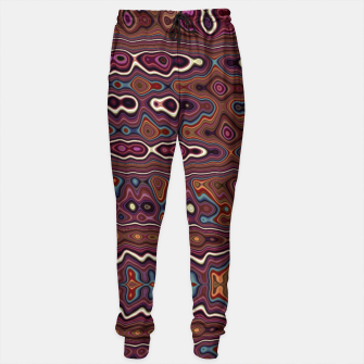 Miniaturka Hippy Boho Chestnut Warped Pattern Sweatpants, Live Heroes