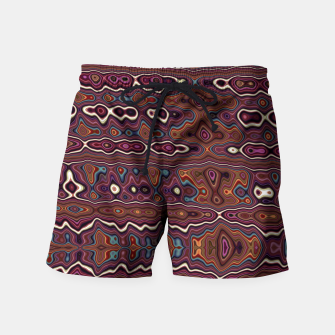 Miniaturka Hippy Boho Chestnut Warped Pattern Swim Shorts, Live Heroes