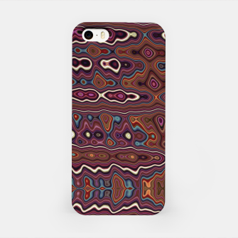 Miniaturka Hippy Boho Chestnut Warped Pattern iPhone Case, Live Heroes