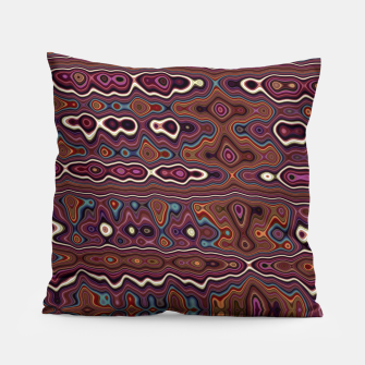 Miniatur Hippy Boho Chestnut Warped Pattern Pillow, Live Heroes