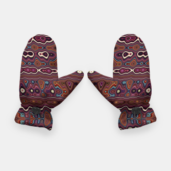Miniatur Hippy Boho Chestnut Warped Pattern Gloves, Live Heroes