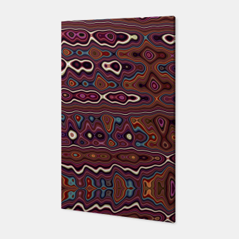 Thumbnail image of Hippy Boho Chestnut Warped Pattern Canvas, Live Heroes