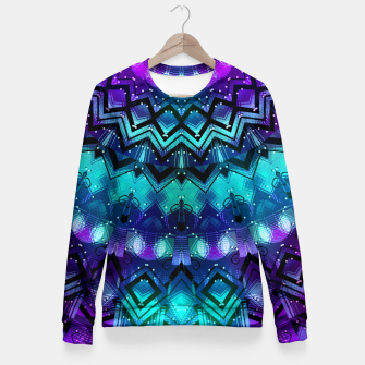 Thumbnail image of Celestial Midnight Mandala Half Fitted Waist Sweater, Live Heroes