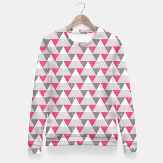 Imagen en miniatura de Geo Triangles - Pink and Grey Fitted Waist Sweater, Live Heroes