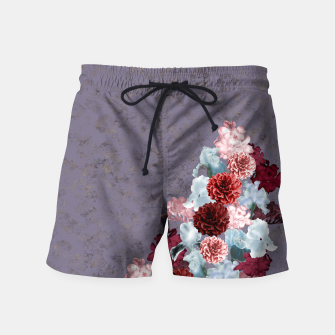 Miniaturka elegant flower gradation with Japanese Kamon decoration Swim Shorts, Live Heroes