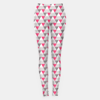 Miniaturka Geo Triangles - Pink and Grey Leggings, Live Heroes