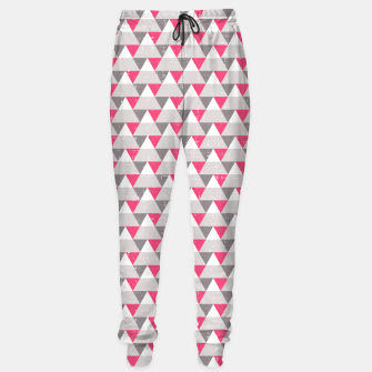 Imagen en miniatura de Geo Triangles - Pink and Grey Sweatpants, Live Heroes