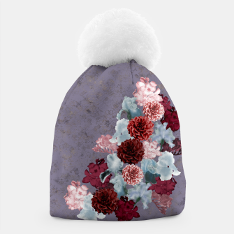 Miniatur elegant flower gradation with Japanese Kamon decoration Beanie, Live Heroes