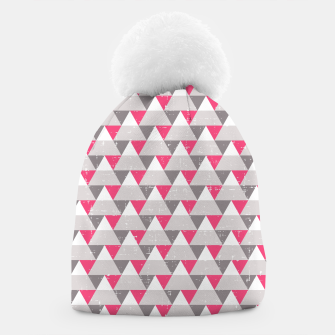 Miniatur Geo Triangles - Pink and Grey Beanie, Live Heroes