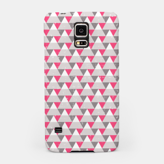 Miniatur Geo Triangles - Pink and Grey Samsung Case, Live Heroes