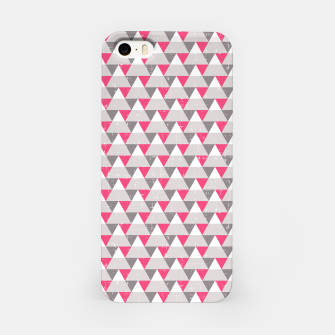 Miniaturka Geo Triangles - Pink and Grey iPhone Case, Live Heroes