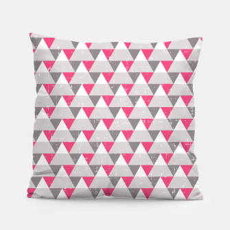 Miniatur Geo Triangles - Pink and Grey Pillow, Live Heroes