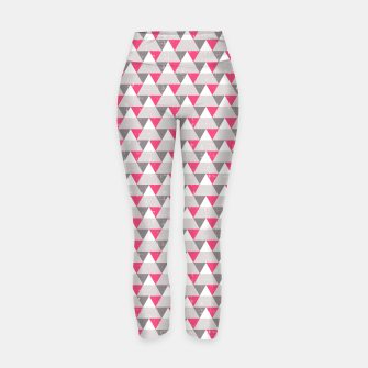 Miniatur Geo Triangles - Pink and Grey Yoga Pants, Live Heroes