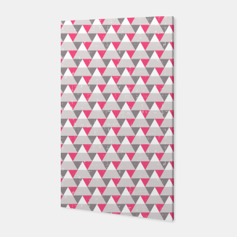 Miniatur Geo Triangles - Pink and Grey Canvas, Live Heroes