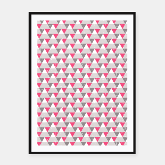 Miniaturka Geo Triangles - Pink and Grey Framed poster, Live Heroes