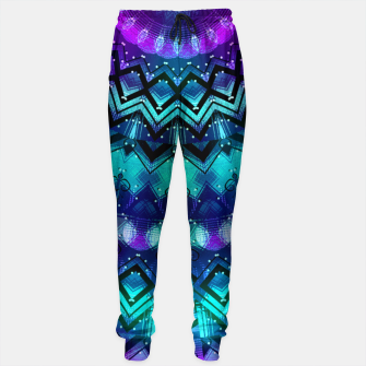 Thumbnail image of Celestial Midnight Mandala Half Sweatpants, Live Heroes