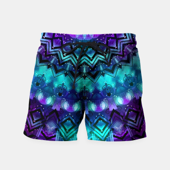 Thumbnail image of Celestial Midnight Mandala Half Swim Shorts, Live Heroes