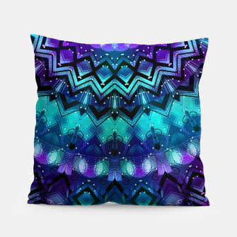 Thumbnail image of Celestial Midnight Mandala Half Pillow, Live Heroes