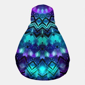 Thumbnail image of Celestial Midnight Mandala Half Pouf, Live Heroes