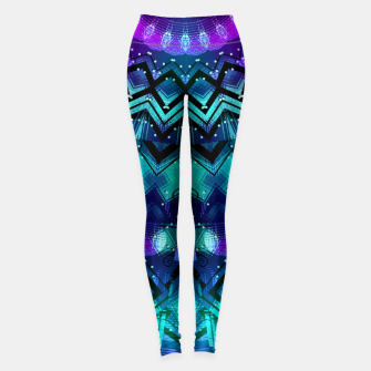 Thumbnail image of Celestial Midnight Mandala Half Leggings, Live Heroes