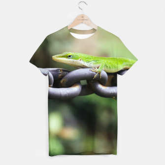Miniatur Anole on Chain T-shirt, Live Heroes