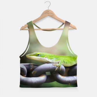 Miniaturka Anole on Chain Crop Top, Live Heroes