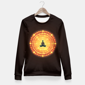 Imagen en miniatura de Meditation Yoga Design Fitted Waist Sweater, Live Heroes