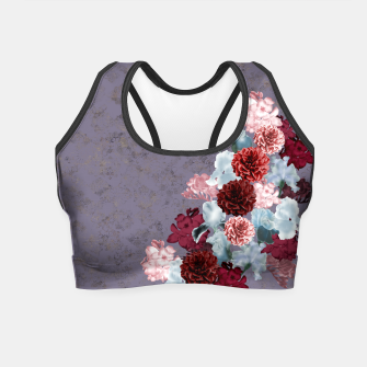Thumbnail image of elegant flower gradation with Japanese Kamon decoration Crop Top, Live Heroes