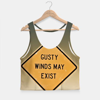 Miniaturka Gusty Winds Sign Crop Top, Live Heroes