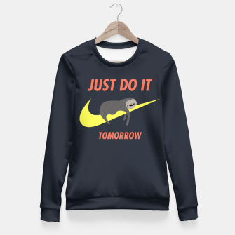 Imagen en miniatura de Just do it tomorrow Fitted Waist Sweater, Live Heroes