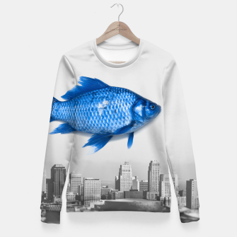 Imagen en miniatura de Goldfish Bluefish Fitted Waist Sweater, Live Heroes