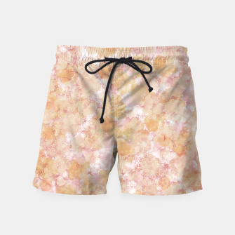 Miniaturka elegant flower hibiscus with Japanese traditional Kamon decoration like Kimono Swim Shorts, Live Heroes