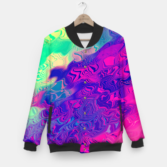 Miniatur Psychedelic Pattern Baseball Jacket, Live Heroes