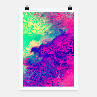 Miniatur Psychedelic Pattern Poster, Live Heroes