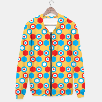 Miniatur Retro Hexagons - Red Yellow Blue Hoodie, Live Heroes