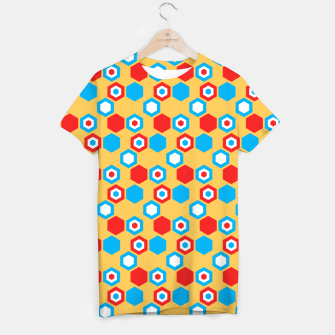 Miniaturka Retro Hexagons - Red Yellow Blue T-shirt, Live Heroes