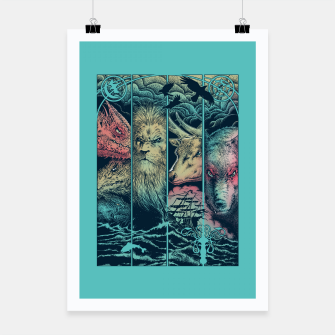 Miniatur Game of Animals Poster, Live Heroes