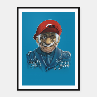 Miniatur General Mario Framed poster, Live Heroes