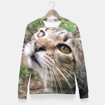 Thumbnail image of Farm Cat Fitted Waist Sweater, Live Heroes