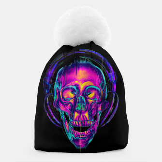 Thumbnail image of Trippy Skull Beanie, Live Heroes