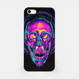 Miniatur Trippy Skull iPhone Case, Live Heroes