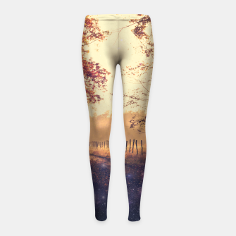 Thumbnail image of The Wind in the Trees Girl's Leggings, Live Heroes