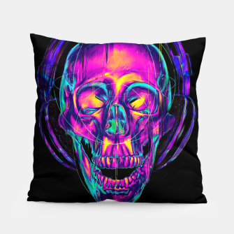 Thumbnail image of Trippy Skull Pillow, Live Heroes