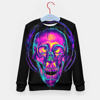Thumbnail image of Trippy Skull Kid's Sweater, Live Heroes