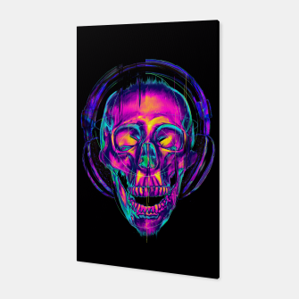 Miniatur Trippy Skull Canvas, Live Heroes