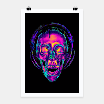 Thumbnail image of Trippy Skull Poster, Live Heroes