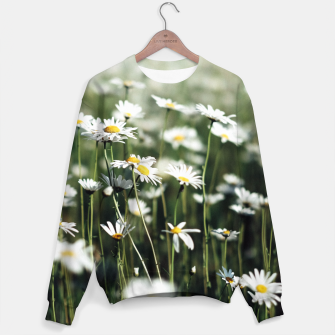 Thumbnail image of White Summer Daisies Flowers Sweater, Live Heroes